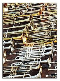 Nowoczesne, a także bardzo efektowne obrazy przedstawiające zbliżenia na instrumenty muzyczne zwrócą uwagę nie tylko fanom różnych gatunków...
