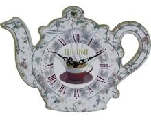 Pełen uroku zegar w kształcie imbryczka nada angielski styl każdemu pomieszczeniu. To produkt bardzo stylowy, efektowny, który na pewno zwróci uwagę...