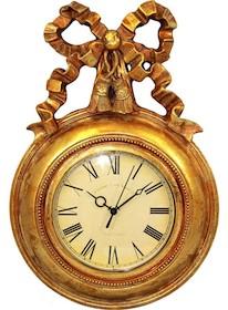 Niezwykle efektowny zegar w bogato zdobionej, wyrazistej ramie, którą dekoruje ponadto piękna kokarda to znakomite rozwiązanie do wszystkich eleganckich...