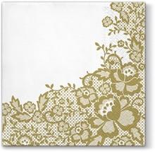 Bardzo szykowne serwetki Wedding Chic Gold prezentują się niezwykle gustownie i stanę się ozdobą każdego weselnego stołu. Dzięki eleganckiej...