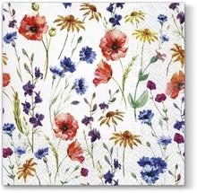 Piękne serwetki Tat Field Flowers dodadzą wiele uroku każdej stylizacji. Łączka drobnych, kolorowych kwiatów wygląda bardzo gustownie, kobieco i...