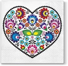 Serwetki Tat Łowicz Heart to wyrazista stylistyka, która spodoba się bardzo wielu osobom. Na pewno pięknie udekorują stół i dodadzą mu wiele energii i...