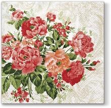 Serwetki Untamed Roses zostały udekorowane bardzo kobiecym, eleganckim obrazkiem przedstawiającym klasyczne, czerwone róże. Są gustowne, eleganckie i na...