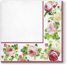 Eleganckie serwetki Różana Ramka sprawdzą się bardzo dobrze praktycznie wszędzie. Kwiecisty wzór doda wiele uroku każdej eleganckiej kuchni lub...