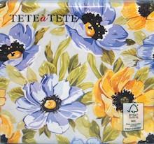 Wielokolorowe serwetki Soft Flowers ożywia każdy stół i wniosą wiele energii do każdej kuchni lub jadalni. Prezentują się efektownie i stylowo. Na...