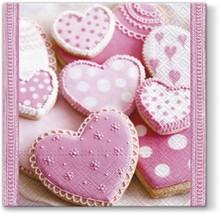 Serwetka Lunch Heart Cakes będzie świetnym rozwiązaniem do kuchni lub jadalni. Bardzo uroczy, słodki wzór na pewno doda wiele uroku każdej stylizacji,...