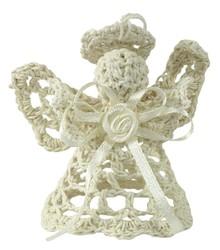 Efektowne, niewielkich rozmiarów figurki wykonane z włóczkiprzedstawiające aniołki to przepiękne elementy dekoracyjne do postawienia lub...