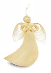 Efektowne, niewielkich rozmiarów figurki wykonane z włóknaprzedstawiające aniołki to przepiękne elementy dekoracyjne do zawieszenia. Figurki...