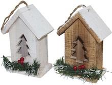 Drewniane domki dla ptaszków to przepiękna ozdoba o wielu zastosowaniach; można powiesić lub postawić na gałęzi świątecznej choinki, postawić na...