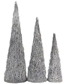 Zestaw 3 sztuk pięknych, stożkowych choinek to ozdoba idealna na zimowe dni. Drzewka wyposażone w niezależne zasilanie bateryjne i żarówki, które po...
