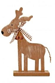 Drewniany renifer to bardzo urocza figurka, która znakomicie wpisze się w okres świąt Bożego Narodzenia. Stanie na kominku, stole czy półce. Przedmiot...