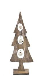 Bardzo ciekawa,drewniana i delikatna figurka przedstawiająca choinkę to element dekoracyjny, który świetnie wkomponuje się w świąteczny nastrój....
