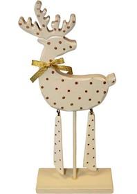 Postać jelenia umieszczonego na podstawce z patykiem jest ozdobą idealną do pokoju dziecięcego czy młodzieżowego. Całość wykonana z drewna,...
