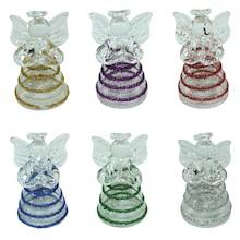 Efektowne, niewielkich rozmiarów szklane figurki przedstawiające aniołki to przepiękne elementy dekoracyjne do zawieszania. Figurki doskonale wkomponują...
