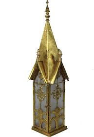 Metalowe lampiony w kształtach wież kościelnych, ratuszowych czy zamkowych to bardzo oryginalne elementy dekoracyjne. Znajdą zastosowanie wewnątrz...