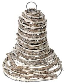 Świąteczny dzwonek wykonany z wikliny to przepiękna ozdoba na choinkę czy stroik.