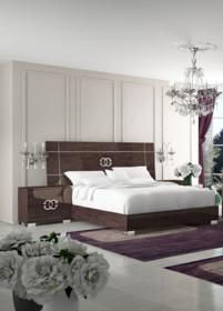 Rama łóżka PRESTIGEMODERN o wymiarach 180/200cm, wykonane z płyty MDF i lakierowane na wysoki połysk. Wezgłowie tak jak rama...