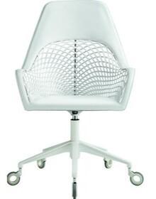 Fotel Guapa DPA obrotowy i podnoszony. Podstawa metalowa malowana w kolorze białym. Siedzisko fotela wykonane w całości ze skóry naturalnej. Oparcie i...