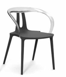 Fotelik FLY dostpeny w 3 kolorach. Połączenie poliwęglanu na oparciu i polipropylenu na siedzisku. Dostępna jest również opcja bez podłokietnika....