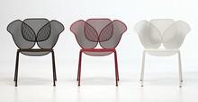 Fotel Elitre wykonany w całości z metalu i siatki metalowej, dostępnej w 4 kolorach - biała, czarna, brązowa lub czerwona. Fotel może byc stosowany na...
