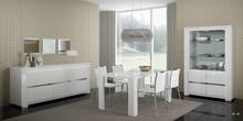 Włoski stół pochodzący z kolekcji ELECANCE WHITE. Wykonany z najwyższej jakości lakierowanej na wysoki połys płyty meblowej. Posiada wstawki i...