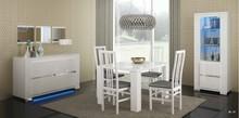 <br />Włoske krzesło Vermont pochodzące z kolekcji ELECANCE WHITE. Wykonany z najwyższej jakości płyty meblowej lakierowanej na wysoki połysk....