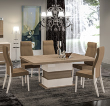 <br />Krzesło z najnowszej kolekcji od firmy STATUS. Krzesło obszyte materiałem mikrofibry, plamoodpornym, z grubym splotem w kolorze orzecha...