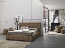 Tapicerowane, podwójne łóżko CAPRI od Target Point. ŁóżkoCAPRItapicerowane jest ekoskórą Soft. Konstrukcja łóżka jest stworzona z...