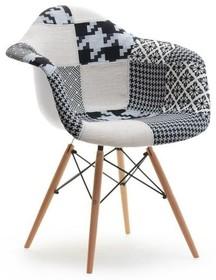 Krzesło kubełkowe MPA WOOD TAP - patchwork 2/naturalny