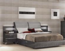 Łóżko ELITE GREY o wymiarach 180/200cm z tapicerowanym wezgłowiem. Wykonane jest z płyty MDF i lakierowane na wysoki połysk w kolorze szarej brzozy....