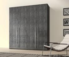Szafa 6- drzwiowa ELITE GREY wykonana z płyty MDF w całości lakieorwana na wysoki połysk w kolorze szarej brzozy. Uchwyty są metalowe chromowne i długie...