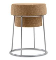 Taboret Bouchon wyprodukowany przez Domitalia.<br />Wykonany ze stalowej, lakierowanej ramy oraz siedzenia z drewna korkowego uzyskanego z recyklingu....