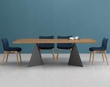 Euclide F to stół prostokątny, który dzięki swoim sporym wymiarom może pomieścić od 6 do 8 osób. Nadaje się do pomieszczeń o sporych wymiarach,...