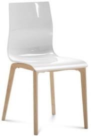 Krzesło GEL-L z rodziny produktów Domitalia. Rama i nogi wykonana z drewna jesionu. Pozostała część, siedzenie i oparcie, zostały wykonane z akrylu,...