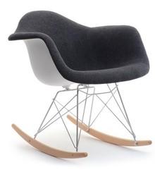 Krzesło bujane MPA ROC TAP - biały/czarny