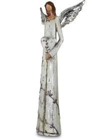 Efektowne,srebrne i smukłefigurki przedstawiające anioły to przepiękne elementy dekoracyjne. Figurki doskonale wkomponują się w nowoczesny...
