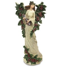 Efektowne, kolorowe figurki przedstawiające anioły w leśnej aranżacji z okazałymi skrzydłamiudekorowanymi szyszkami to przepiękne elementy...