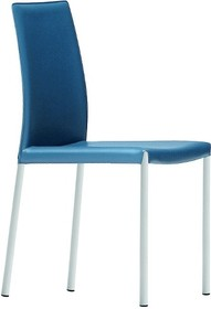 Krzesło Nuvola SB CU, z podstawą metalową - malowana na kolor biały lub grafitowy. Siedzisko krzesła wykonane zostało ze skóry naturalnej twardej...