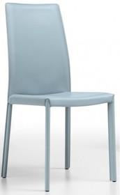"""Nuvola SBR CU to krzesło w całości obszyte skórą naturalna twardą lub skórą regenerowaną. Gama kolorów skóry, pokazana jest w """"opcjach..."""