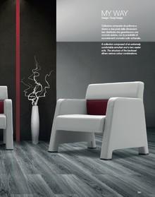 MY WAY MW001 jednoosobowy fotel w pełni tapicerowany z podłokietnikami. Fotel idealnie nadaje się zarówno do przestrzeni publicznych, jak recepcja,...