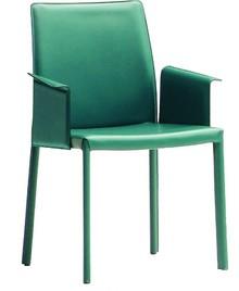 Nuvola PBL CU, to fotel z podłokietnikiem. Stlaż jest metalowy malowany w dwóch kolorach: biały lub grafit.Siedzisko, oparcie i podłokietniki...