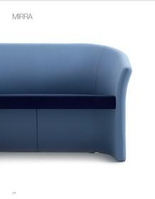 MIRRA MR002 to dwuosobowa sofa tapicerowana, nierozkładana. Podstawa sofy to nylonowe, czarne nóżki. Sofa idealnie nadaje się zarówno do przestrzeni...