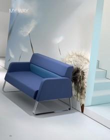 MY WAY MW102C dwuosobowa sofa w pełni tapicerowana, z podłokietnikami. Podstawa sofy to nogi w typie płozy, chromowane. Sofa idealnie nadaje się zarówno...
