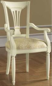 Krzesło SIENA DAY AVORIO z podłokietnikami, wykonane z drewna lipowego i wybarwiane na kolor kremowy. Siedzisko krzesła jest tapicerowane wysokiej jakości...