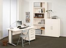 Zestaw mebli do biura PRIMA 4 - biały/szary