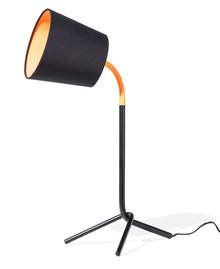 <b>Designerska lampka nocna w modnych barwach z ciekawym, pomarańczowym akcentem kolorystycznym</b><br>Designerska lampka znakomicie...
