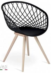 Krzesło Bubble, z podstawą drewnianą w dwóch kolorach. Siedzisko wykonan z masy plastycznej, dostępnej w 5 kolorach.  Prezentowany produkt...