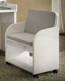 Fotel DREAM WHITE wykonany z płyty laminowanej i lakierowany na wysoki połysk w białym lakierze. Siedzisko i oparcie od wewnętrznej strony fotela zostało...