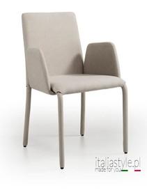 Krzesło z podłokietnikiem DORA-P, to krzesło z niskim oparciem w całości tapiceorowane wysokiej jakości eko skórą.<br...