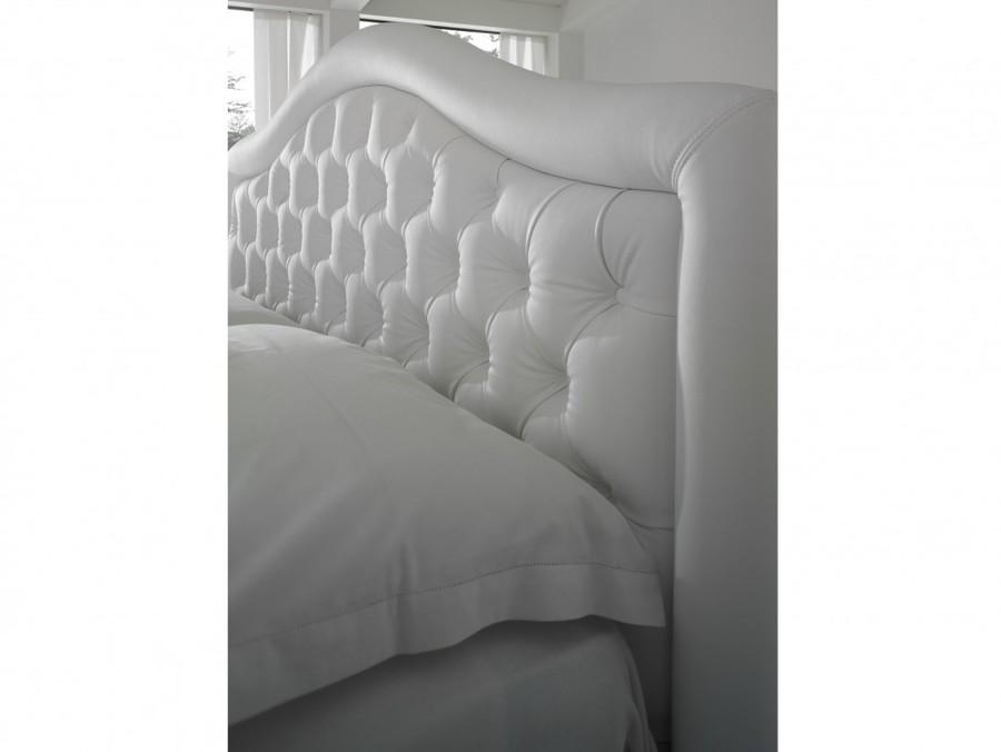 łóżko 160x200 Capri Tapicerowane Pikowane Wezgłowie Bolzan Letti Produkt Włoski